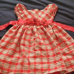 Red dress girls 3T holiday dress